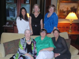 Me with my mother, sisters, and cousins for Three Birthday Weekend in Charleston.  Note the tiaras.