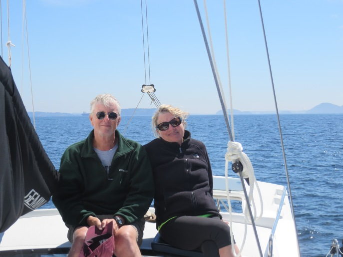 Sailing in the San Juan Islands this summer.  Don't worry, I removed my CI in high winds.